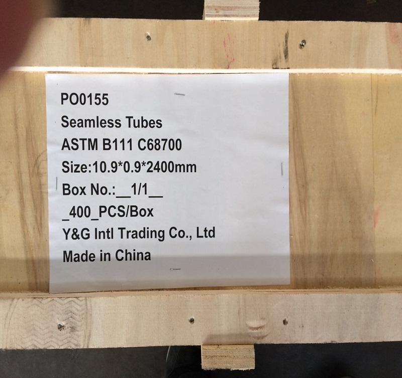 C68700 Aluminum Brass Tube